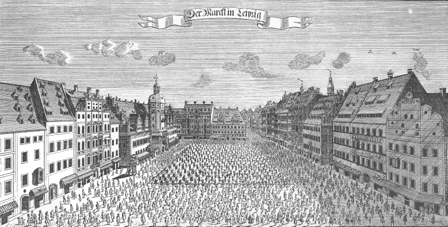 State Visit to Leipzig of the Elector August II 1733