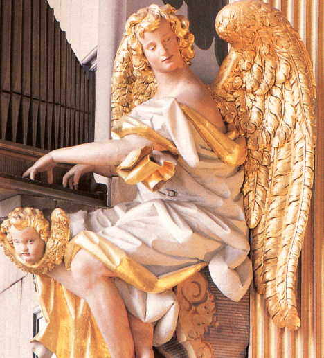 Baroque Angel, organ case 1714