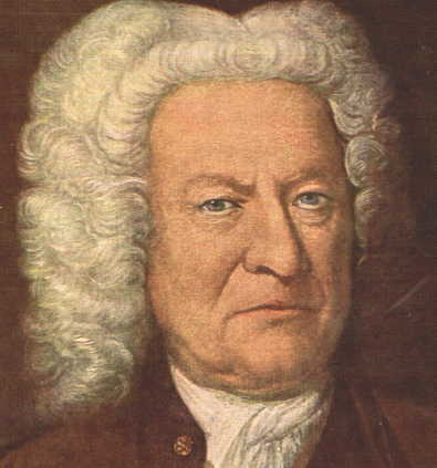 Bach Portrait in Old Age Altersbild